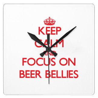 Keep Calm and focus on Beer Bellies Clocks