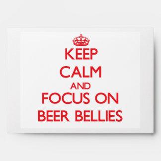 Keep Calm and focus on Beer Bellies Envelope