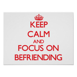 Keep Calm and focus on Befriending Posters