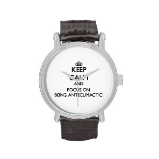 Keep Calm and focus on Being Anti-Climactic Wrist Watch