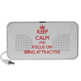 Keep Calm and focus on Being Attractive Mini Speakers