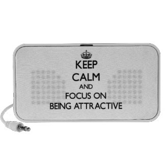 Keep Calm And Focus On Being Attractive Mp3 Speakers