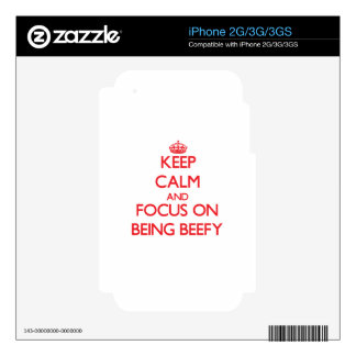Keep Calm and focus on Being Beefy Decal For The iPhone 3