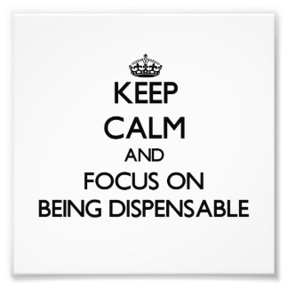 Keep Calm and focus on Being Dispensable Photograph