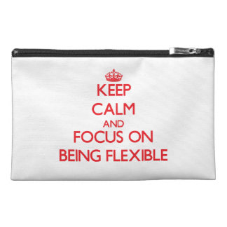 Keep Calm and focus on Being Flexible Travel Accessory Bags