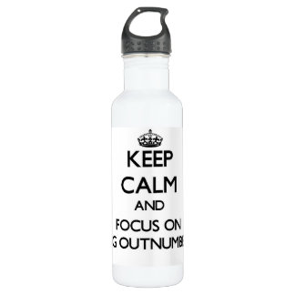 Keep Calm and focus on Being Outnumbered 24oz Water Bottle