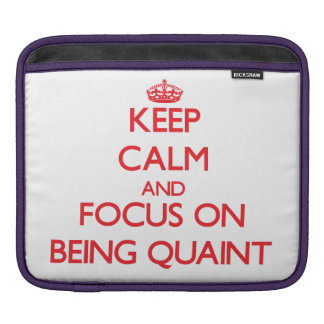 Keep Calm and focus on Being Quaint Sleeve For iPads