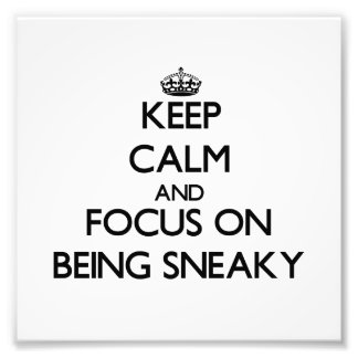 Keep Calm and focus on Being Sneaky Photo Print