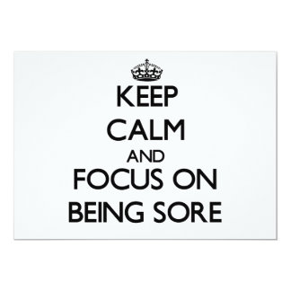 Keep Calm and focus on Being Sore Cards