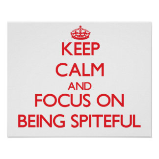 Keep Calm and focus on Being Spiteful Posters