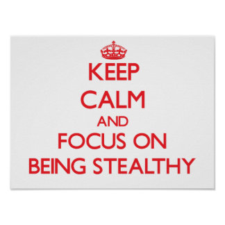 Keep Calm and focus on Being Stealthy Poster