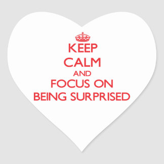 Keep Calm and focus on Being Surprised Sticker