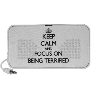 Keep Calm and focus on Being Terrified Travel Speaker