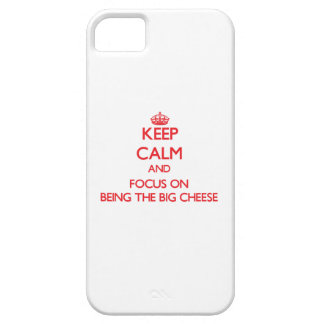 Keep Calm and focus on Being The Big Cheese iPhone 5 Cover