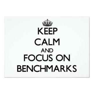 Keep Calm and focus on Benchmarks Custom Announcement
