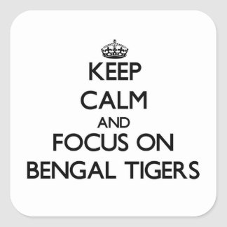 Keep calm and focus on Bengal Tigers Square Sticker