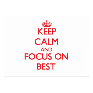 Keep Calm and focus on Best Business Card Template