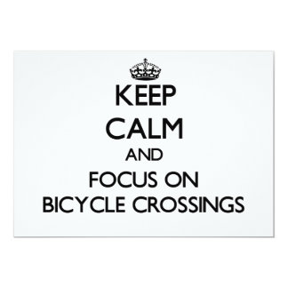 Keep Calm and focus on Bicycle Crossings Personalized Announcements