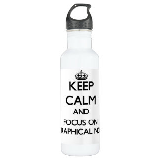 Keep Calm and focus on Biographical Novels 24oz Water Bottle