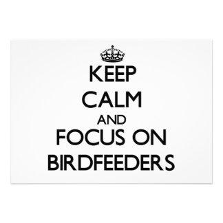 Keep Calm and focus on Birdfeeders Invites