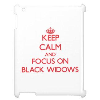 Keep calm and focus on Black Widows iPad Cases