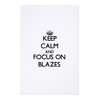 Keep Calm and focus on Blazes Custom Stationery