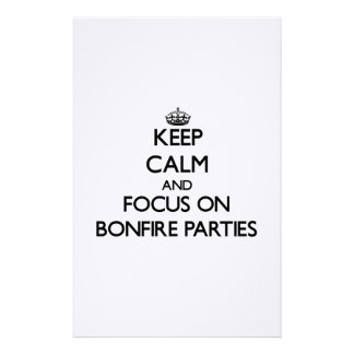 Keep Calm and focus on Bonfire Parties Stationery Design