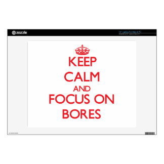 """Keep Calm and focus on Bores Decals For 14"""" Laptops"""