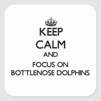 Keep calm and focus on Bottlenose Dolphins Square Sticker
