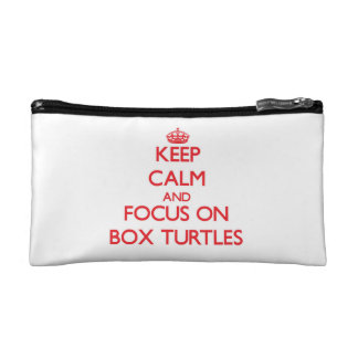 Keep Calm and focus on Box Turtles Cosmetic Bag
