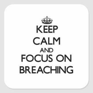 Keep Calm and focus on Breaching Square Stickers