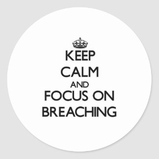 Keep Calm and focus on Breaching Round Sticker