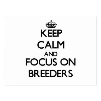 Keep Calm and focus on Breeders Postcard