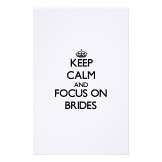 Keep Calm and focus on Brides Personalized Stationery