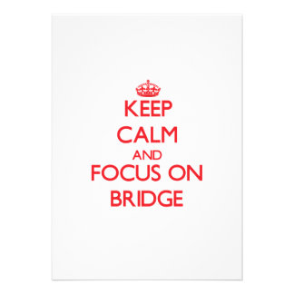 Keep calm and focus on Bridge Personalized Announcements