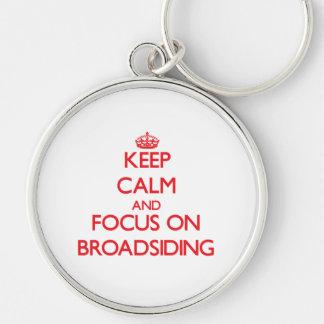 Keep Calm and focus on Broadsiding Keychain