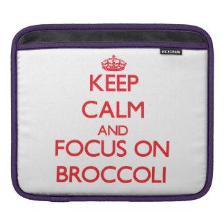 Keep Calm and focus on Broccoli iPad Sleeves