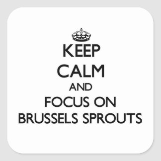 Keep Calm and focus on Brussels Sprouts Square Stickers