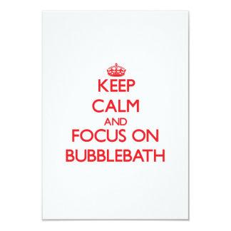 Keep Calm and focus on Bubblebath 3.5x5 Paper Invitation Card
