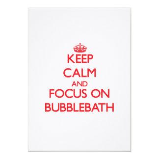 Keep Calm and focus on Bubblebath 5x7 Paper Invitation Card