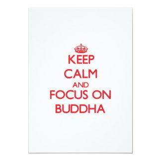 Keep Calm and focus on Buddha Invitations