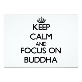Keep Calm and focus on Buddha Custom Invitations