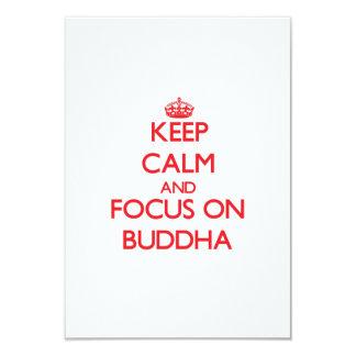 Keep Calm and focus on Buddha Announcement