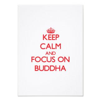 Keep Calm and focus on Buddha Invites