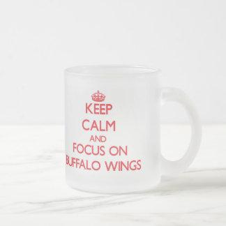 Keep Calm and focus on Buffalo Wings Coffee Mugs