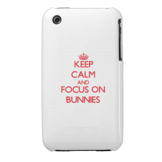Keep Calm and focus on Bunnies iPhone 3 Cases