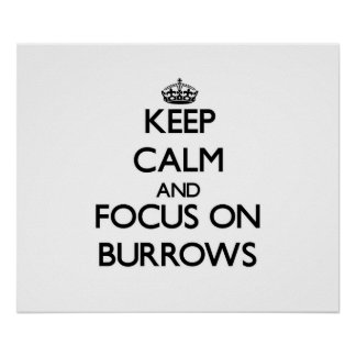 Keep Calm and focus on Burrows Print