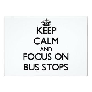 "Keep Calm and focus on Bus Stops 5"" X 7"" Invitation Card"