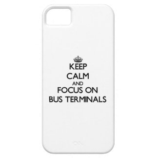 Keep Calm and focus on Bus Terminals iPhone 5 Cover