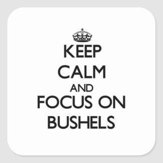 Keep Calm and focus on Bushels Stickers
